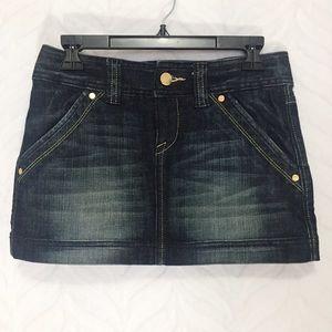 Express Denim Mini Skirt Jean Size 0 Embellished
